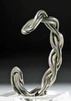 Very Fine Viking Twisted Silver Wire Bracelet