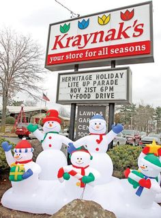Kraynak's Christmasland  Hermitage, PA.  One of my favorite stores...especially at Christmas time.