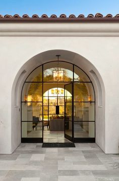 Ideas For Iron Door Design Modern Steel Windows Spanish Style Homes, Spanish House, Architecture Details, Interior Architecture, Steel Windows, Porche, Patio Interior, Dream House Exterior, Mediterranean Homes