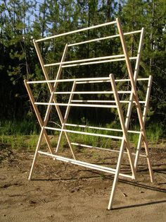 """The """"Homesteader"""": Extra Large drying rack for every day usage Wooden Clothes Drying Rack, Hanging Clothes, What A Nice Day, Kayak Storage Rack, Store Bateau, Drying Rack Laundry, Kitchen Styling, Stores, Kitchen Furniture"""