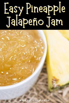 The mix of tropical fruit tang, sweet, and spicy in this pineapple jalapeño jam is such a perfect combo. Use it on crackers or mix it with cream cheese for a delicious spicy-sweet dip. #dip #summerdiprecipes #pineapple #jalapeno #pineapplejalapenodip Jam Recipes, Spicy Recipes, Jalapeno Jam, Dip Dip, Stuffed Hot Peppers, Crackers, Pineapple, Tropical, Posts