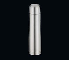 """Cilio Isolierflasche """"Colore"""" 1000ml Edelstahl matt 1000, 750 und 500ml mit Doppelwandsystem, isolierend, praktischer Drehverschluß, mit Trinkbecher"""