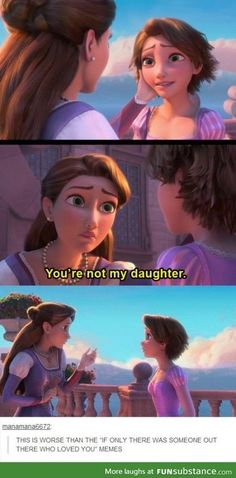 This is terrible.. For Her anyway / Tangled meme