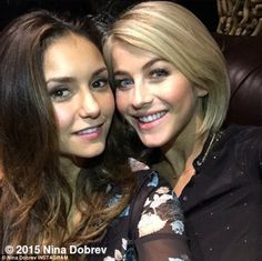 'Hanging in Hotlanta' Nina Dobrev (L) shared this Instagram post of her night with Juliann...
