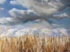 Pléven - Peinture au pastel sec par Isabelle Douzamy - 50x65cm - Collection privée www.douzamy.com  #Pléven #PastelSec #Bretagne #Painting #Pastel #Peinture
