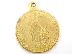 Antique Latin Our Lady of Grace Catholic Medal