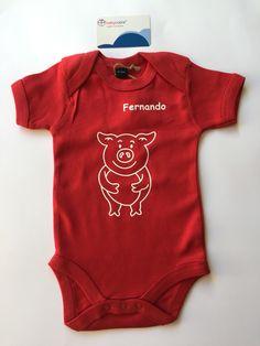 Bodies personalizados con tu animal favorito y el nombre de tu bebe