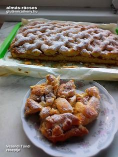 almás rácsos gluténmentes sütemény recept Banana Bread, Waffles, Tej, Gluten Free, Quesadillas, Breakfast, Desserts, Drinks, Food