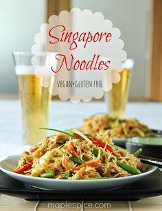 Singapore Noodles - Vegan and Gluten Free