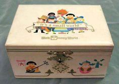 Vintage music Jewelry Box Childs Trinket Box Music Box Ring Box