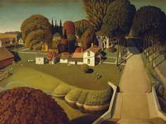 The Birthplace of Herbert Hoover, West Branch, Iowa : Grant Wood Art Print for sale online
