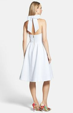 kate spade new york 'hampton' cotton halter dress | Nordstrom
