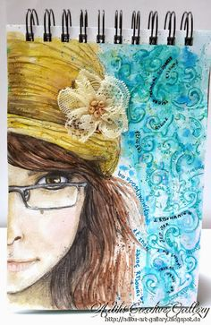 """""""I train,I draw, .. because I decided that once again I will drawing"""" ;)  Once Agan my Jurnal Art for Mixed Media Place challange :D Media: - Ecoline - Aquarell Crayons  - Gel Medium"""