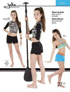 Jalie 3351 - Swim Shorts