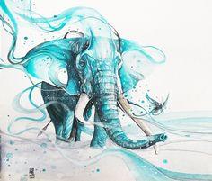 Elephant painting by Art Jongkie