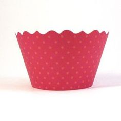 red dots cupcake wrapper