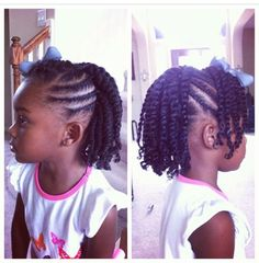 Flat Twist Hairstyle For Kids - http://www.blackhairinformation.com/community/hairstyle-gallery/kids-hairstyles/flat-twist-hairstyle-kids/ #kidshairstyles