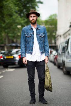Reece Crisp wears a Levi's jacket, Uniqlo shirt and Acne Studios jeans.