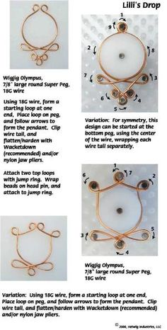 Lilli's Drop Wire and Beads Necklace Jewelry Making Project made with WigJig. by laineyjig