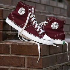 Burgundy HighTops From Jack Threads - One of my long-time all-time favorite online Men's Stores & Resources - Love all the styles and brands they bring, including their own brands like Goodale. Keep up the Good! #JackThreads #Hightops #Menswear #Men's Shoes