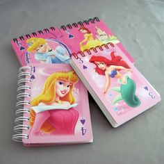 Princess Mini Notebook  Recycled Trading Cards  by StalkingMarla