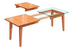 Free plans for DIY extension dining table. Make your own variation using this concept. Blend it with Ana White's farmhouse table. This site has all sorts of free furniture and other woodworking plans. Love this site!