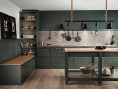Home Decor Kitchen, Interior Design Kitchen, New Kitchen, Home Kitchens, Kitchen Dining, Kitchen Tiles, Kitchen Cabinets, Kitchen Corner, Minimalist Kitchen