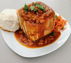 In the late early some of my very best times were spent with my friends, eating Bean Bunnys at a takeway called Willowtree on Durbans Beachfront Bean Recipes, Curry Recipes, Veggie Recipes, Indian Food Recipes, Dessert Recipes, Lamb Curry, Fish Curry, Banana Split Dessert, Beans Curry