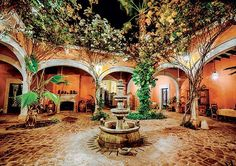 Mexican Patio, The beautiful Mexican style Mexican Hacienda, Mexican Courtyard, Mexican Patio, Spanish Courtyard, Mexican Garden, Courtyard House, Mexican Style Homes, Hacienda Style Homes, Mexican Home Decor