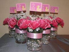 homemade centerpieces for parties | cool centerpiece 40 Lively Baby Shower Centerpieces