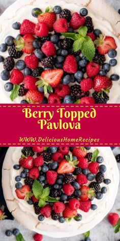 Unfermented berries and whipped cream top a gossamer meringue darken to make the most paradisal course imaginable! For a lanceolate, lovely,. Easy Soup Recipes, Cake Recipes, Dessert Recipes, Party Recipes, Pizza Recipes, Nutella Hot Chocolate, Chocolate Oatmeal, Yummy Treats, Delicious Desserts