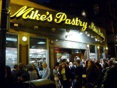 Mike's Pastry in the North End of Boston, Mass. frequently has lines out the door and with good reasons: the Italian baked goods are out of this world. http://www.visitingnewengland.com/mikes-pastry-boston.html