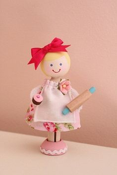 Baking Party - clothespin doll
