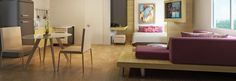 Like this layout for studio apartment / flat