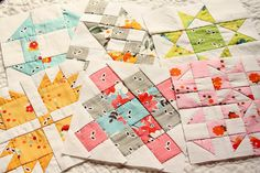 Hand pieced quilt blocks by Erin @ Why Not Sew? Quilts