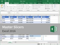 Microsoft Excel 2016 CustomGuide - Master Slicers. Tutorial. Interactive Training. Course.