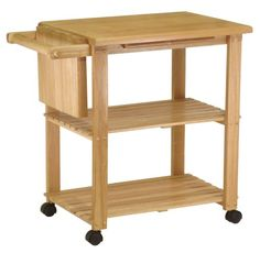 Winsome Wood Utility Cart, Natural