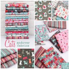 * Cats from Andover Fabrics. Oh boy...lots of cats and cute birds to taunt them