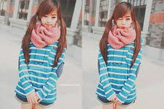 Korean fashion! - Cute Girl and Cool Dress - #korea #korean #fashion #cute #cool #dress - by SnowGirl Pinterest