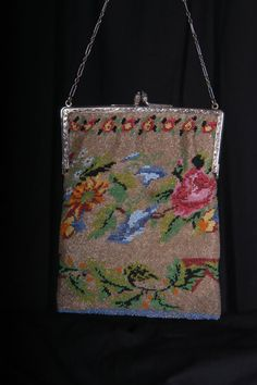 Early 1900's Vintage Beaded Bag with by vintageestatements on Etsy