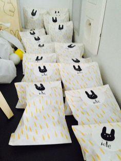 doopsuiker Ide thema konijn met konijnen keutels (maltesers) erin