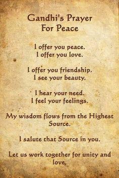 Ghandi's Prayer