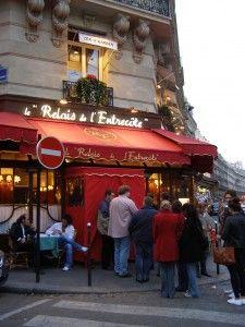 Relais de L'Entrecote, Steak Frites in Paris. Great memory of this place! So good!!