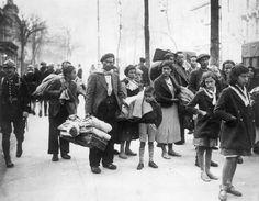 Refugiados españoles en Francia el 8 de abril de 1938.