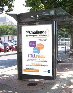 #affiche 1er Challenge de l'entreprise de l'année réalisée par la #graphiste Julie Saba pour l'association Mill'Energies