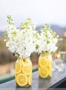 I could see these as center pieces on the food table!