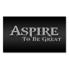 Aspire Inspirational Sleek Metallic Business Cards. This great business card design is available for customization. All text style, colors, sizes can be modified to fit your needs. Just click the image to learn more!