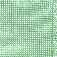 Collection: VERA-NEUMANNThis fun, mid-scale Vera Neumann print riffs on traditional caning. The pattern's frayed edges can be used separately as a border. Wallpaper Size, Schumacher, Green Fabric, Fabric Samples, Printing On Fabric, Freya Bikini, Pattern, Prints, Repeat