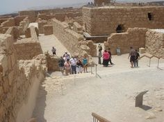 """Masada.  """"Masada is a magnificently located fortress site in Israel's stark Judean Desert, close to the Dead Sea. The last Jewish holdout to fall to Rome in 73 CE, Masada symbolizes the exile of the Jewish nation from the Holy Land"""".- Been here!"""