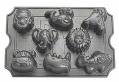 Amazon.com: Nordic Ware Pro Cast Zoo Animal Muffin Pan: Kitchen & Dining